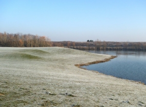 Golf course extension, view over water feature