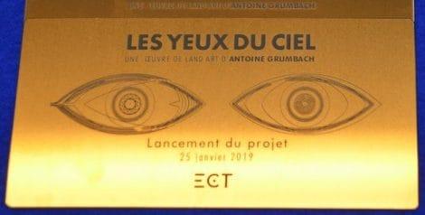 """Projet Les yeux du ciel"""" Land art. A. GRUMBACH - groupe ECT."""